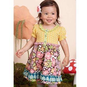 MATILDA JANE Down Down dot Floral dress 12-18 mos